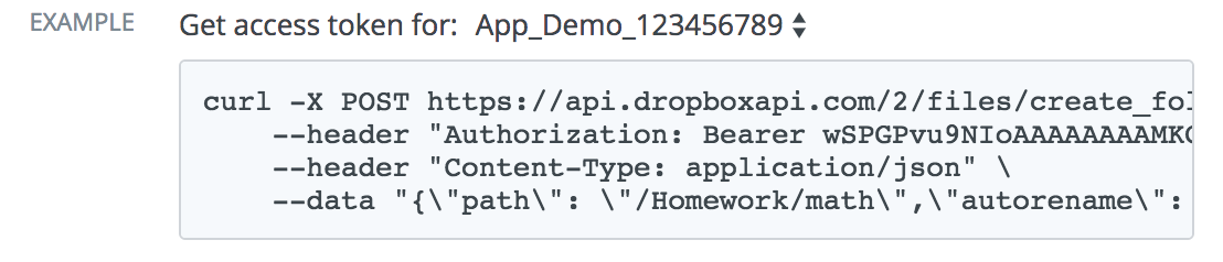 Interacting with the Dropbox API via a Bash script in real-time
