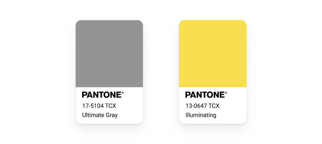 Pantone colors of the year: Ultimate Gray and Yellow named illuminating