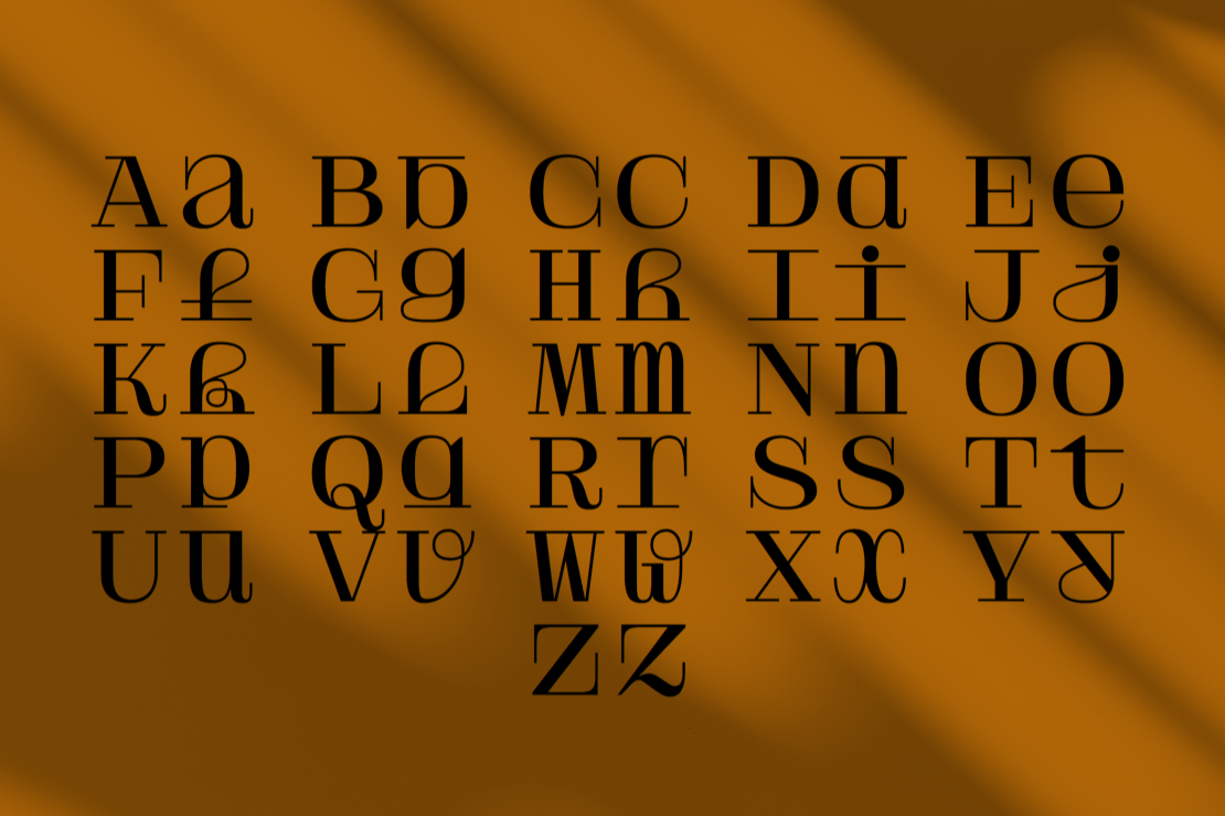 Solide Mirage experimental typeface by Velvetyne Fonts