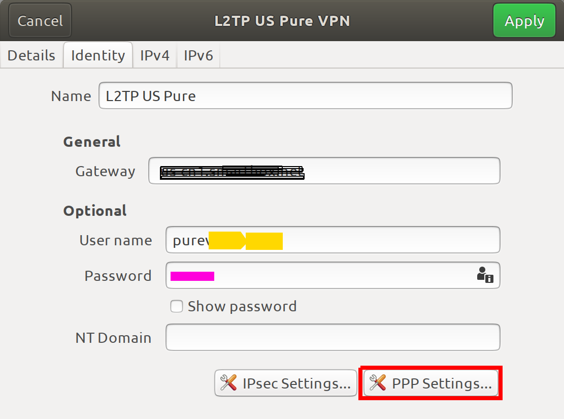 How to setup PureVPN IPSEC/L2TP or any other VPN provider's