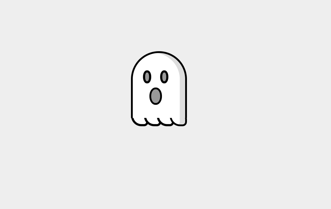 simple line drawing of ghost