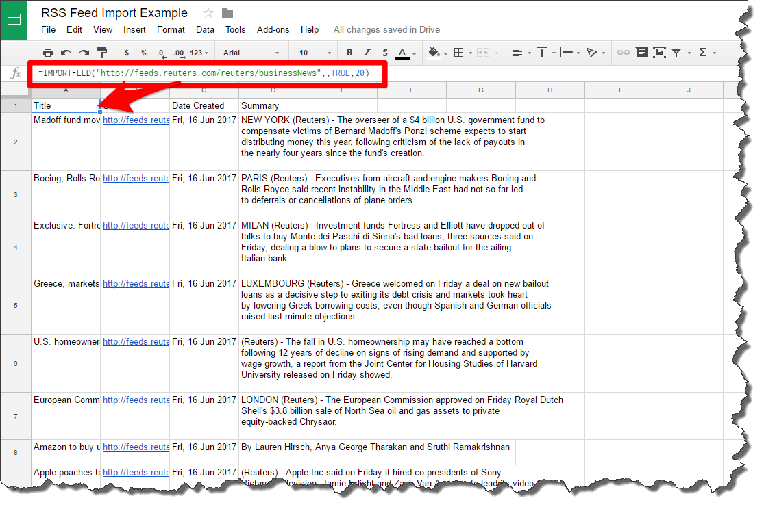 Microsoft Excel — RSS News Feed Into Excel Using PowerQuery?