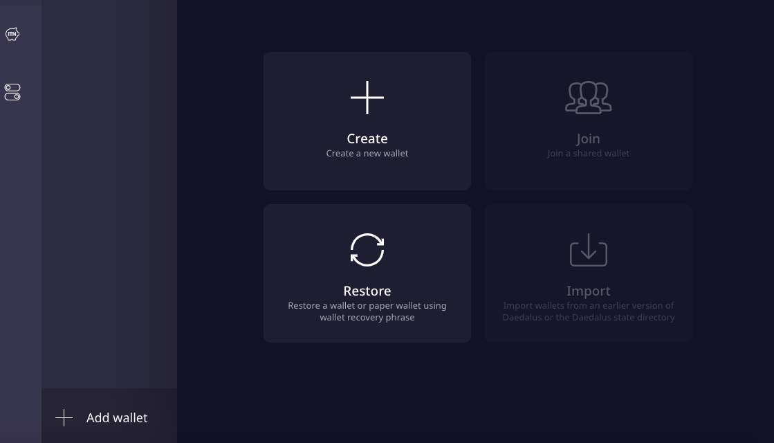 How to create a Daedalus Wallet