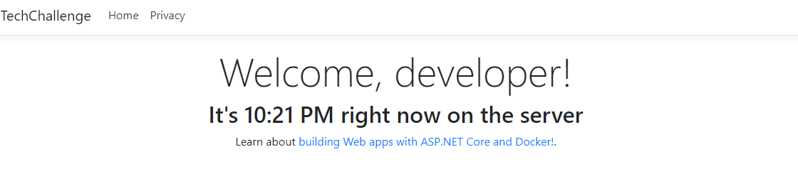 Weekend Project: Introduction to ASP NET Core + Docker