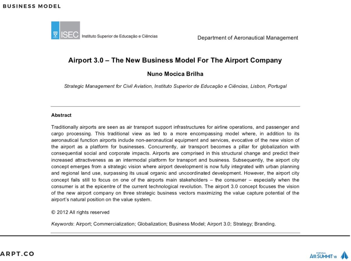 The Case of Airport Management Consumer-Oriented Business Design