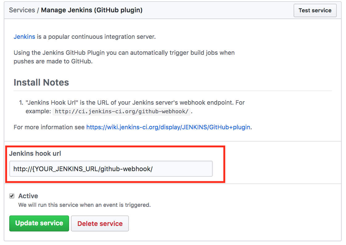 Triggering a Jenkins build from a push to Github - Marc Best