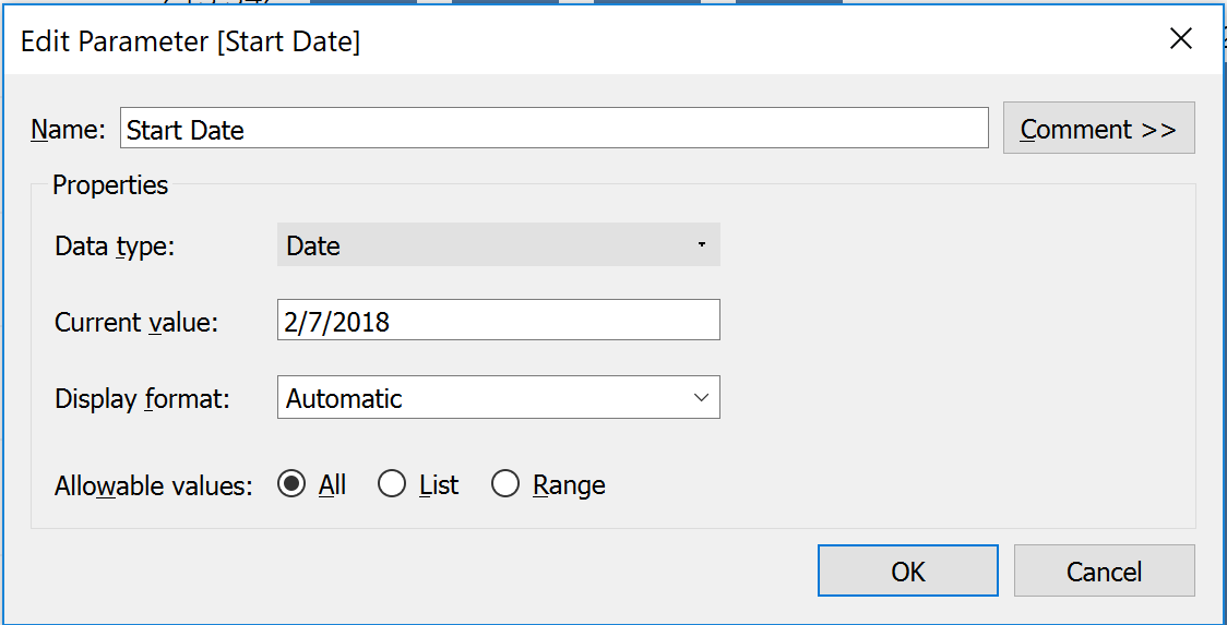 Setting default date to Today with an option to set custom