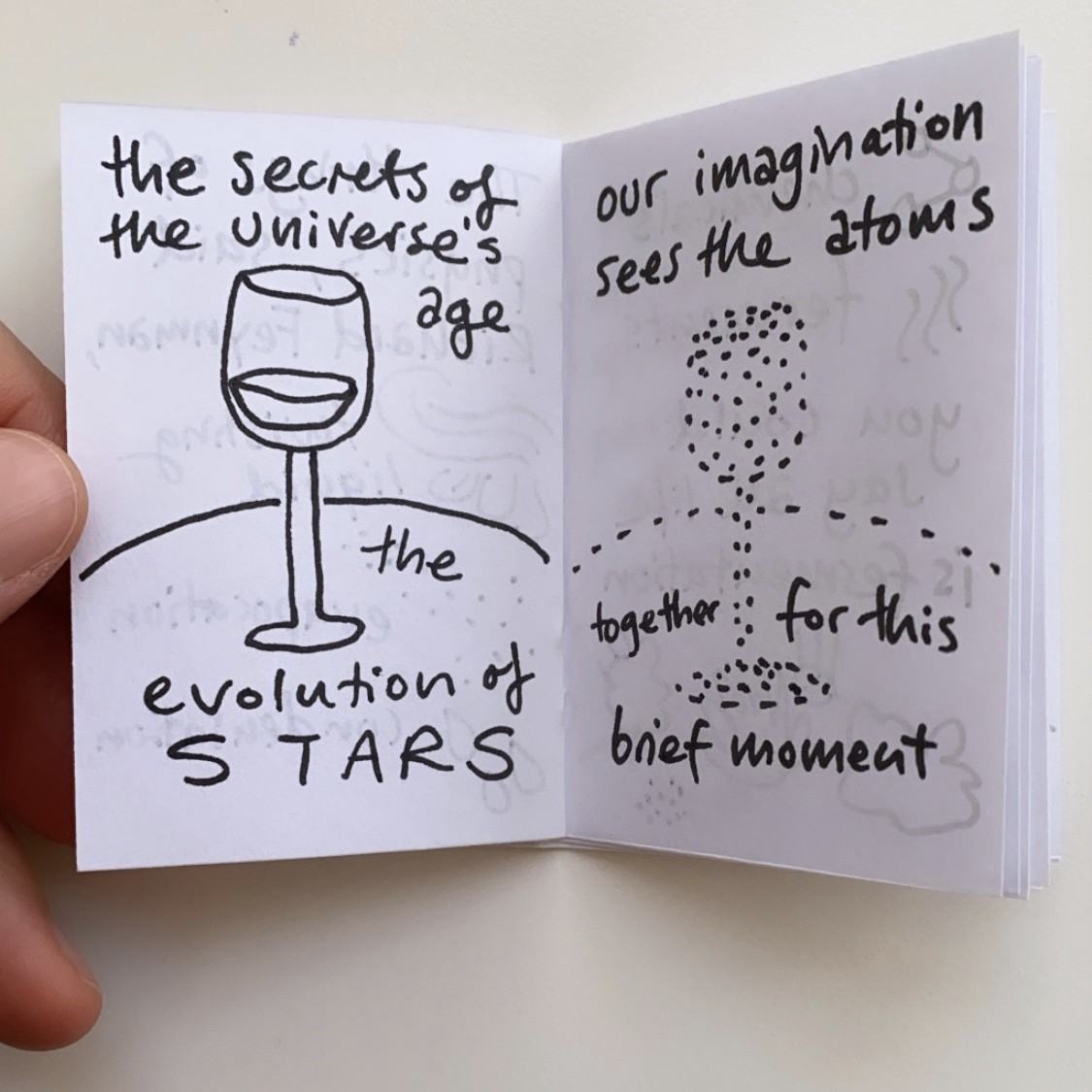 A poet once said the whole universe is in a glass of wine. The universe's age, the evolution of the stars.