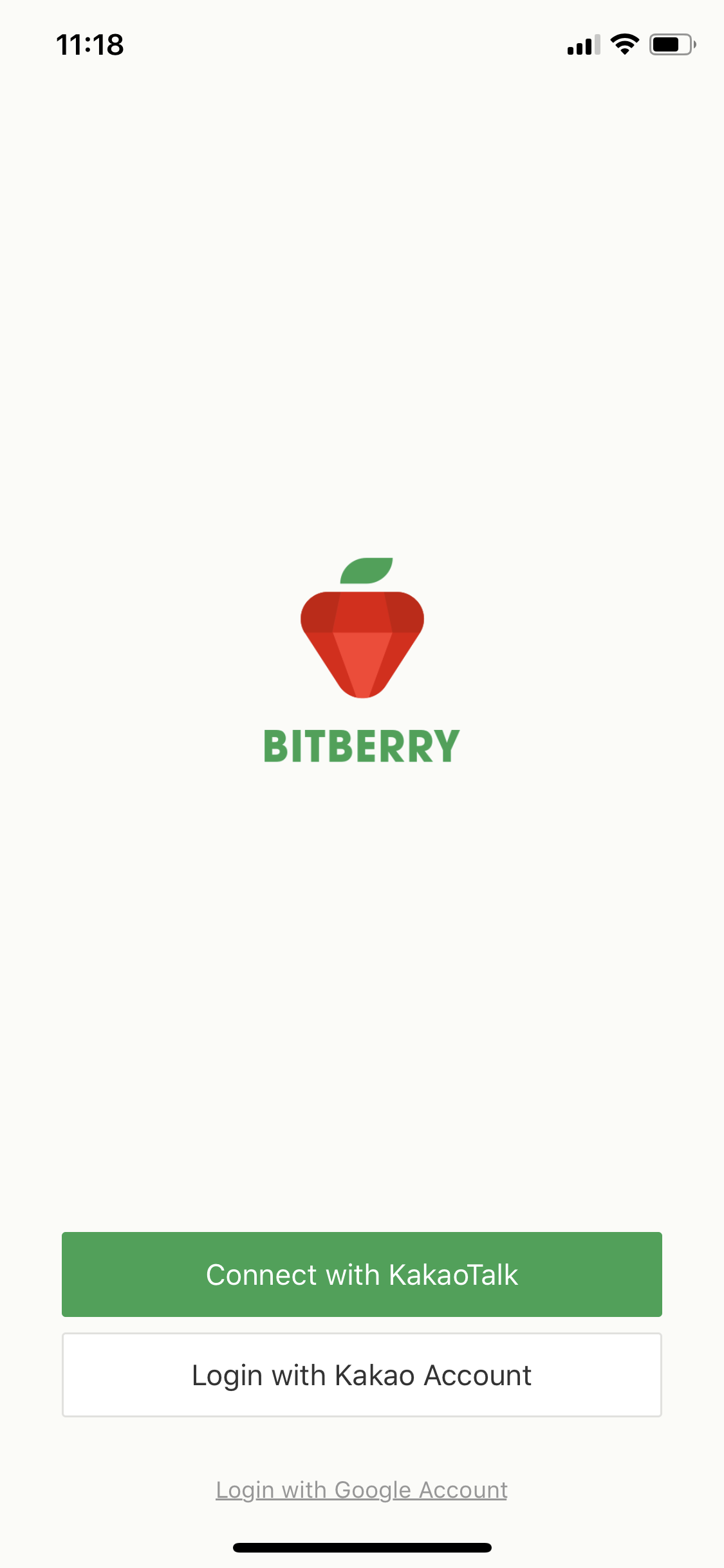 2. Bitberry log-in page