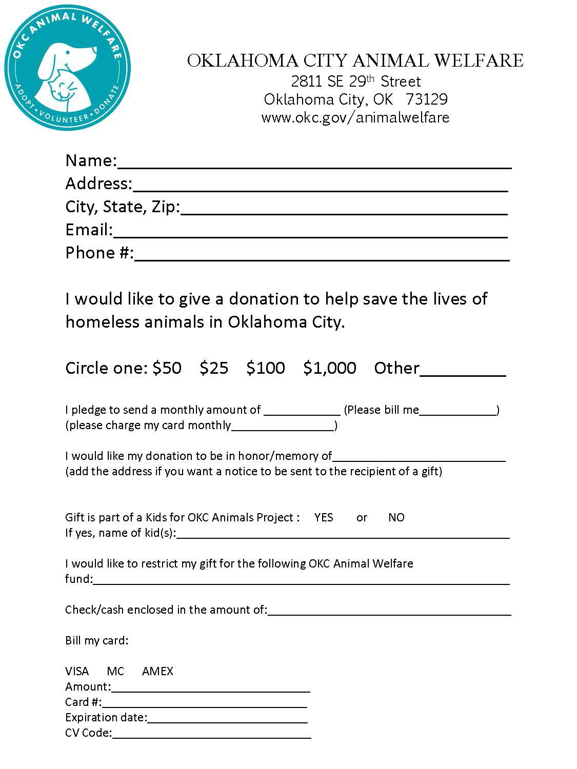 photograph relating to Printable Donation Form referred to as Printable Donation Sort - awinfo - Medium
