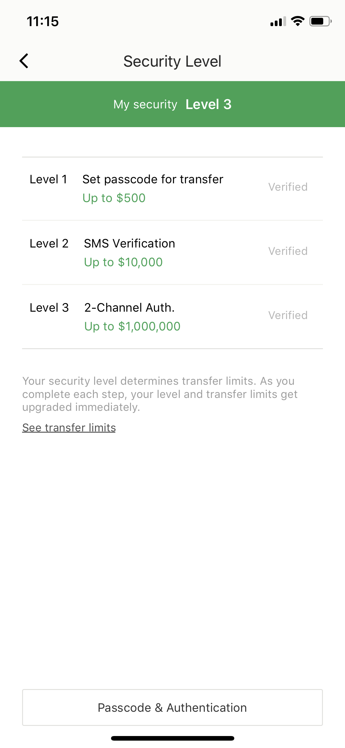 4. Security level and Verification