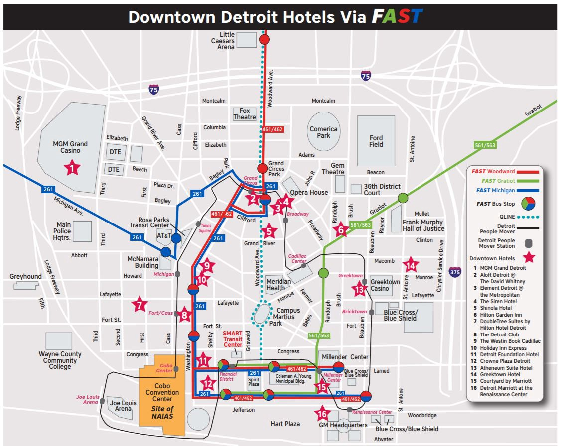 Transit Guide: Detroit Area Hotels - David Gifford - Medium on detroit on usa map, downtown detroit people mover map, venice people-mover map, scarborough rt, detroit bus route map, indian village, detroit airport route map, detroit bus schedule routes, packard plant detroit map, airtrain jfk, fisher building, grand circus park, detroit thanksgiving day parade 2013, detroit railroad map, detroit rail system, downtown detroit, anchorage people mover route map, belle isle, cultural center historic district, michigan avenue, henry livingston map, orchestra hall, detroit, henry woodward colonist exploration map, detroit people mover route in, detroit thanksgiving parade map, detroit vacant land map, miami-dade metromover, detroit light rail map, cobo center, metromover miami map, jacksonville skyway map, bombardier advanced rapid transit, new center, miami people-mover map,