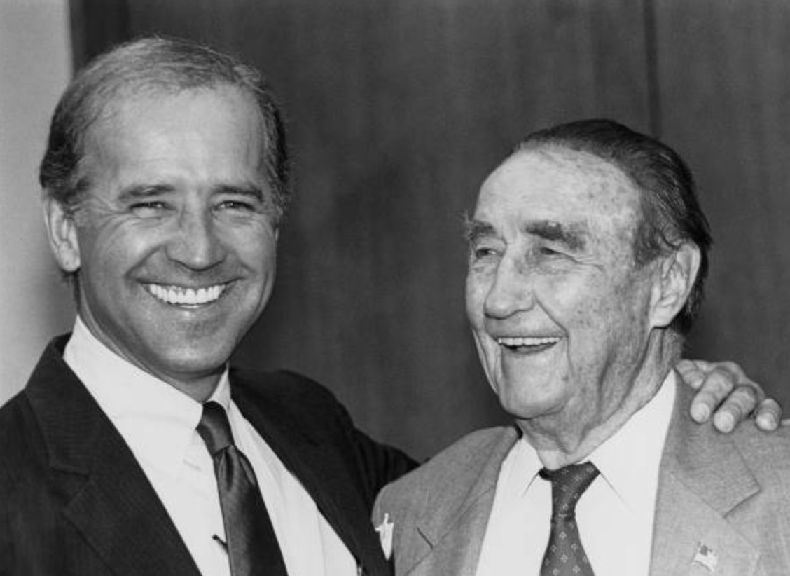 Joe Biden and Strom Thurmond