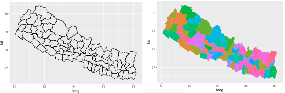 Step-by-Step Choropleth Map in R: A case of mapping Nepal