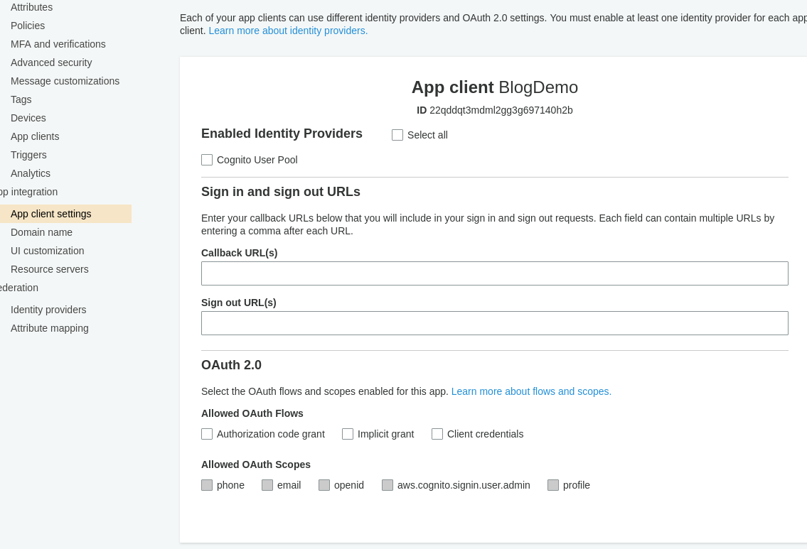OpenID Connect Authorization Code Flow with AWS Cognito