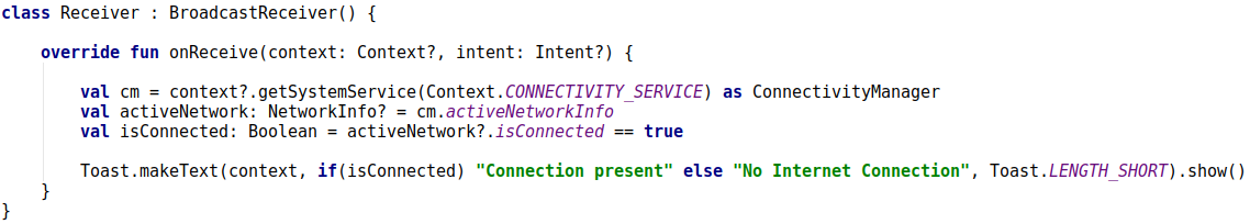 Check for Internet Connection in the Android Application