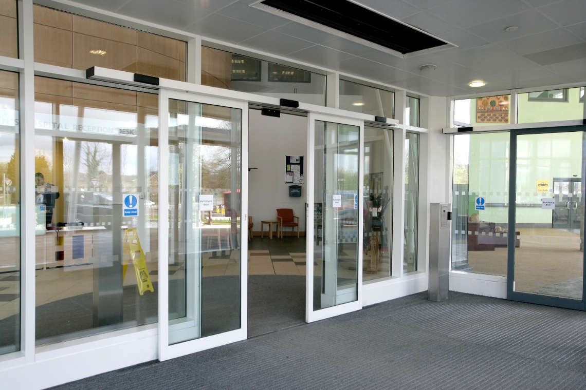 Automatic Doors opens when you come in close vicinity
