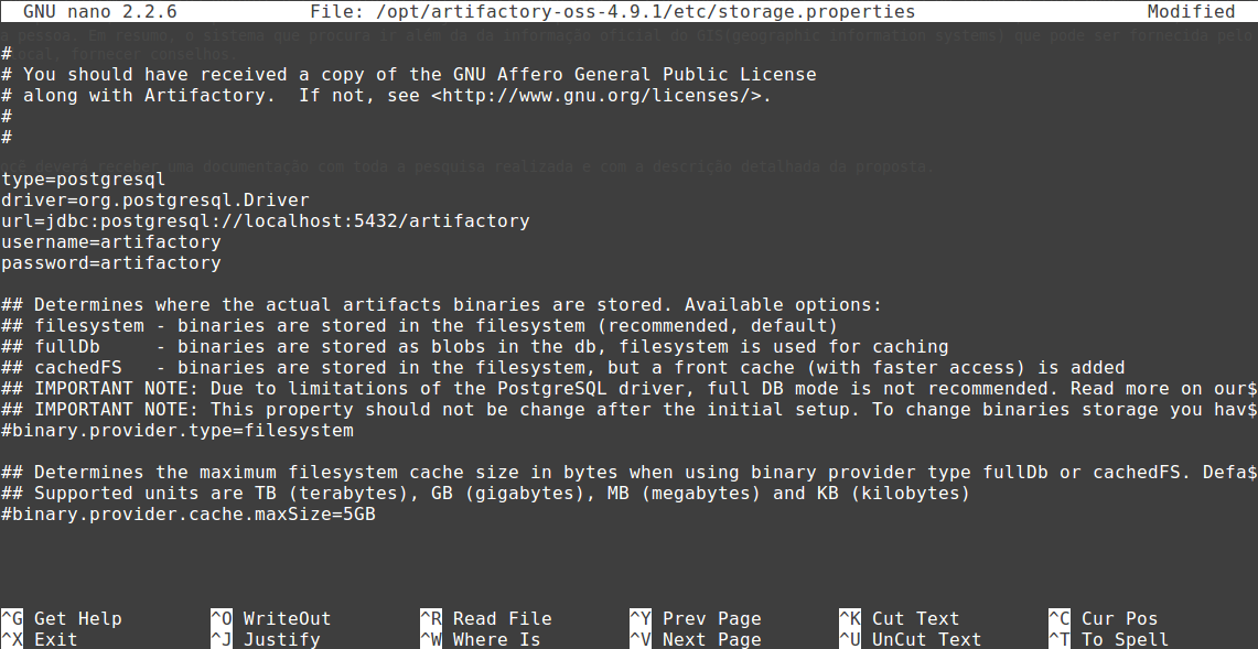 How to configure Artifactory JFrog with Postgres in the