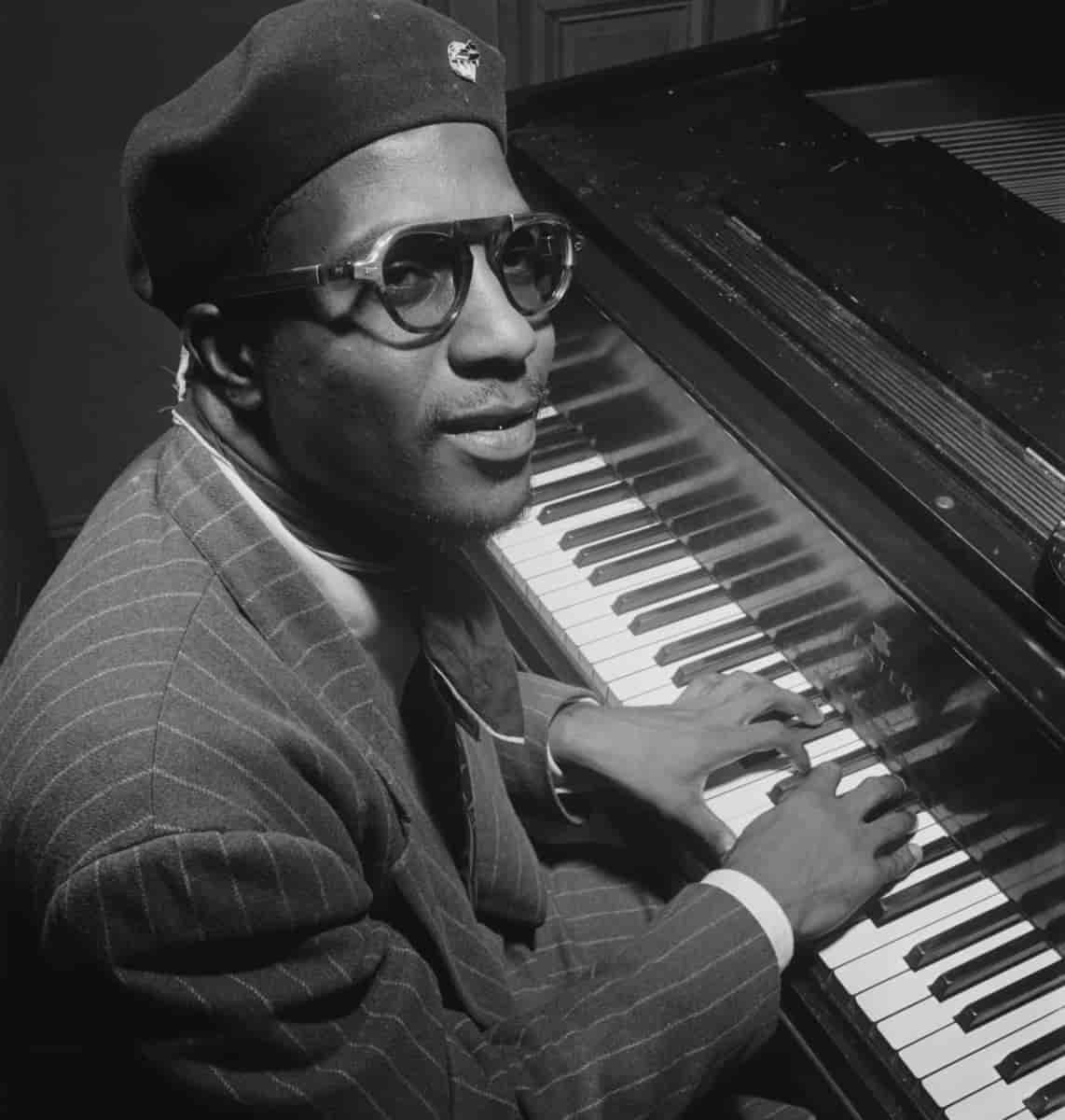 Thelonious Monk, one of Coltrane's heroes.