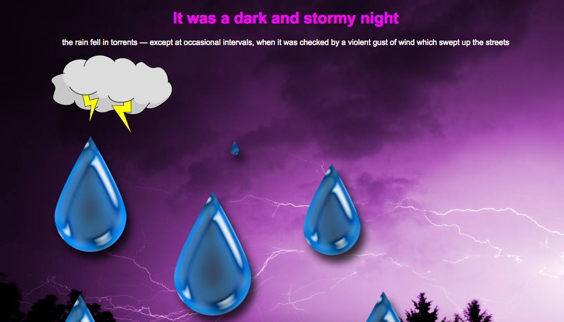 Dark & Stormy Night with CSS Animations - Kelly Lougheed