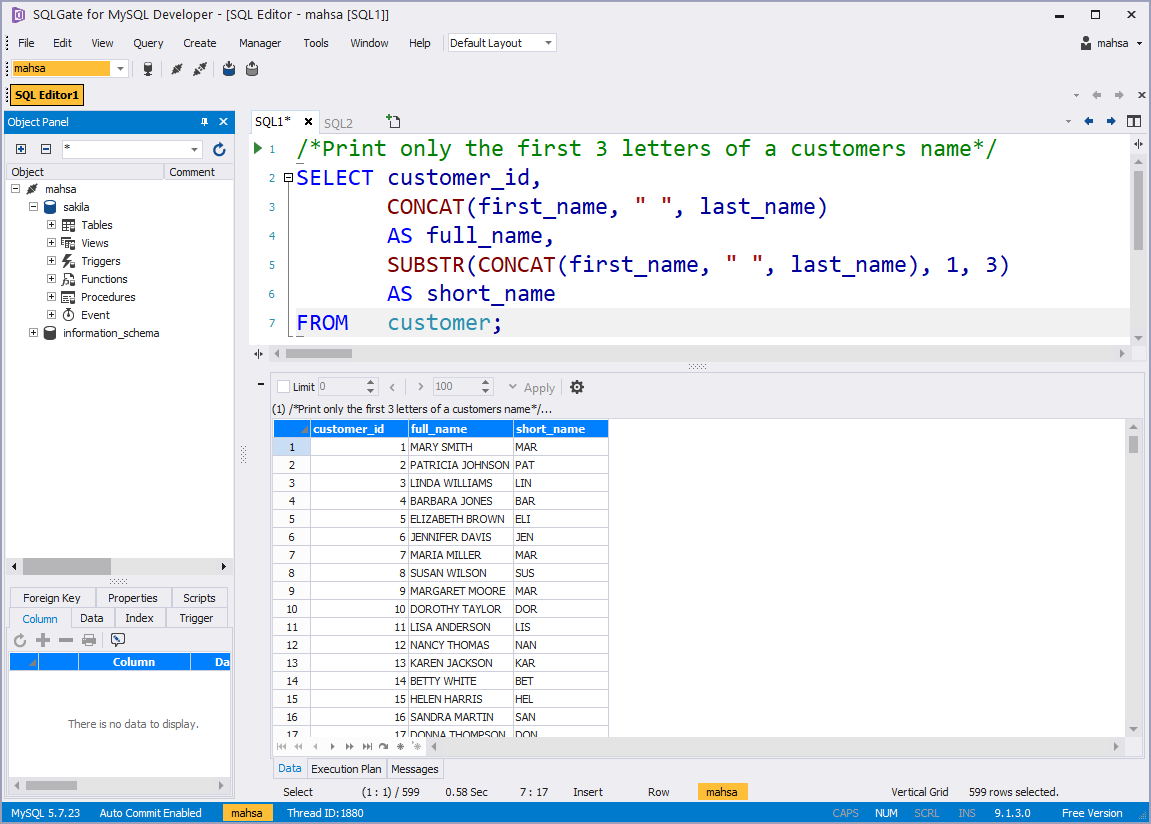 SQL Basic] How to work with String Functions in SQL —My SQL