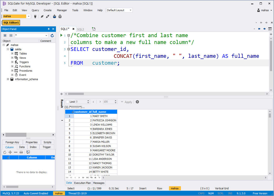 SQL Basic] How to work with String Functions in SQL —My SQL CONCAT, LENGTH,  SUBSTR | by SQLGate Global | SQLGate | Medium