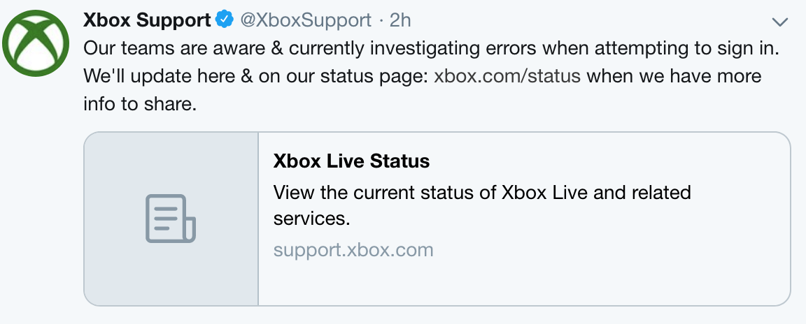 Microsoft Xbox Live is currently down  Sigh! 12 times in