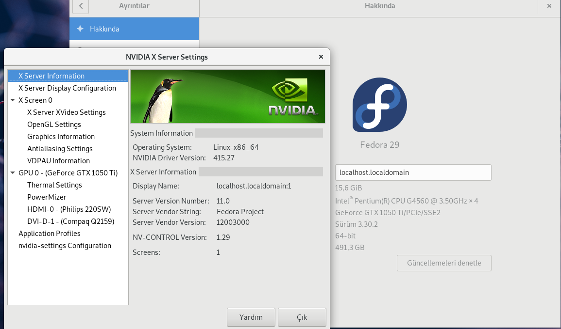 How to install Nvidia drivers on Fedora 29 - Muhammed Kaplan