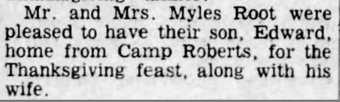 Item from the December 1, 1960 Auburn Journal, Auburn, California