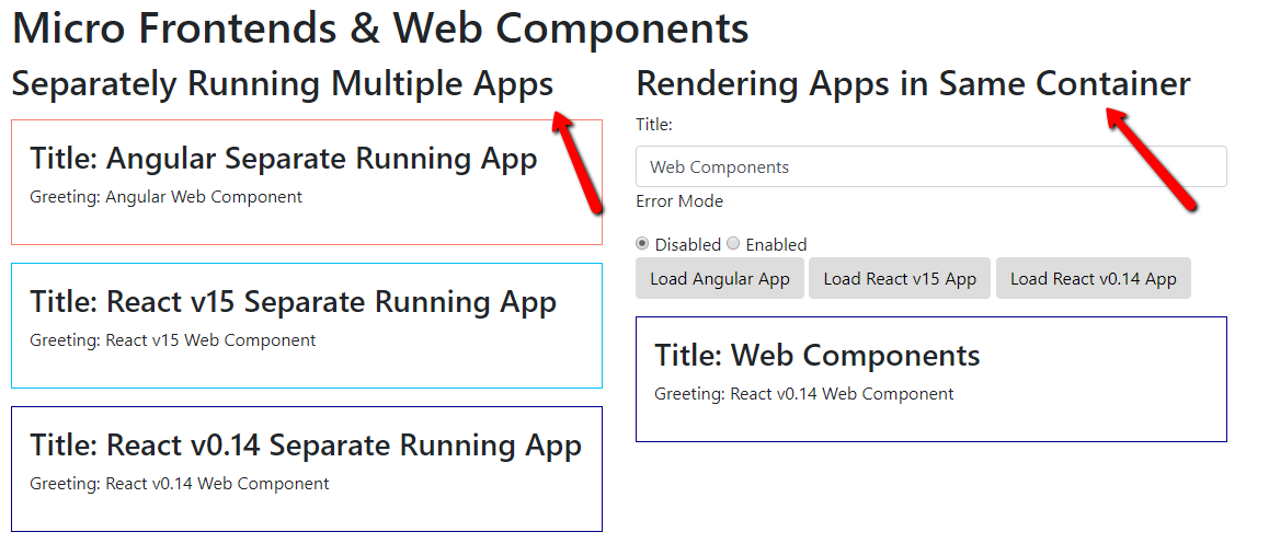 Micro Front-Ends: Web Components - embengineering