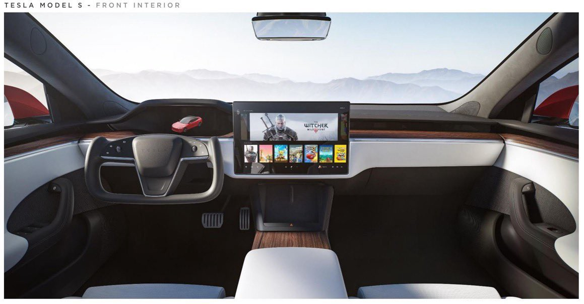 A render of the dashboard posted by @elonmusk on Twitter