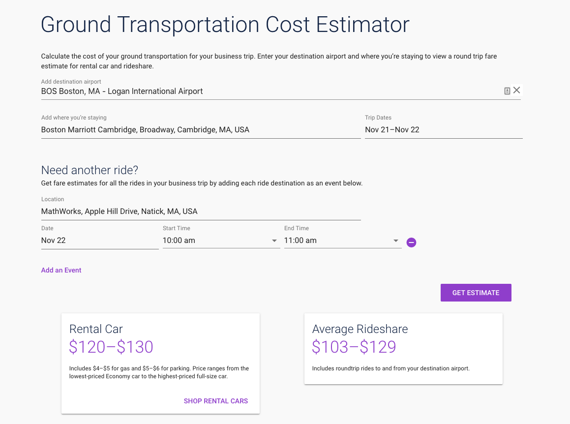 Rideshare or Rental Car?: Informing Decisions with Simple Math