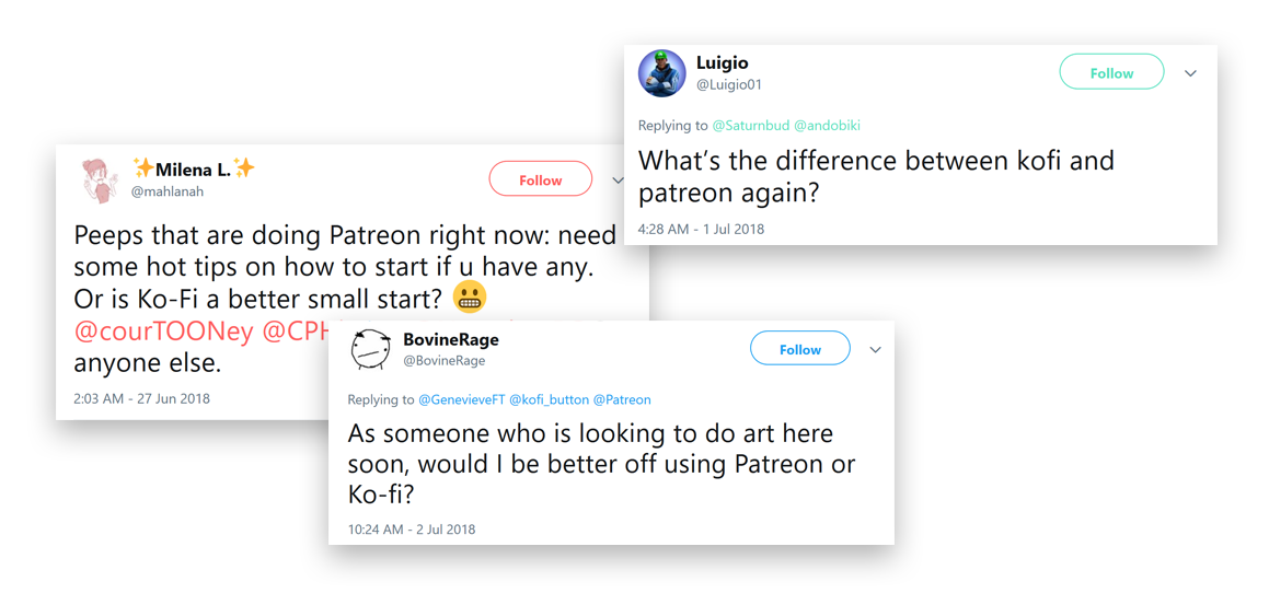 Patreon or Ko-fi — What's the difference? Updated for 2019