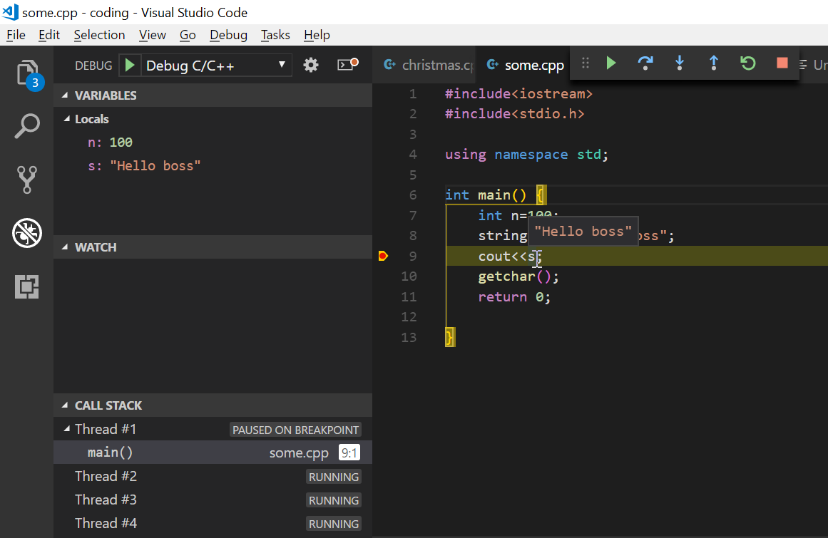 Run, Debug & get IntelliSense for C C++ in VSCode
