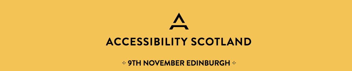 banner header for the accessibility conference on the 9th November 2018