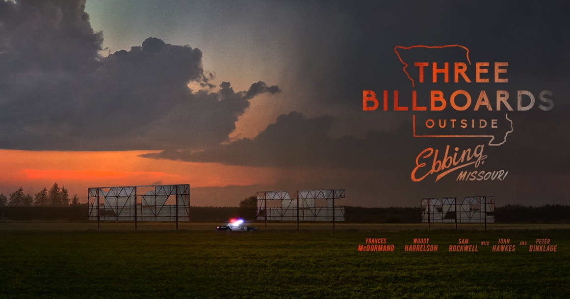 A picture of the poster for the film '3 Billboards'