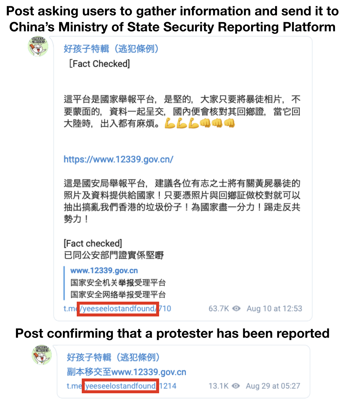 Telegram channels used to doxx and report Hong Kong protesters to Chinese Authorities 4