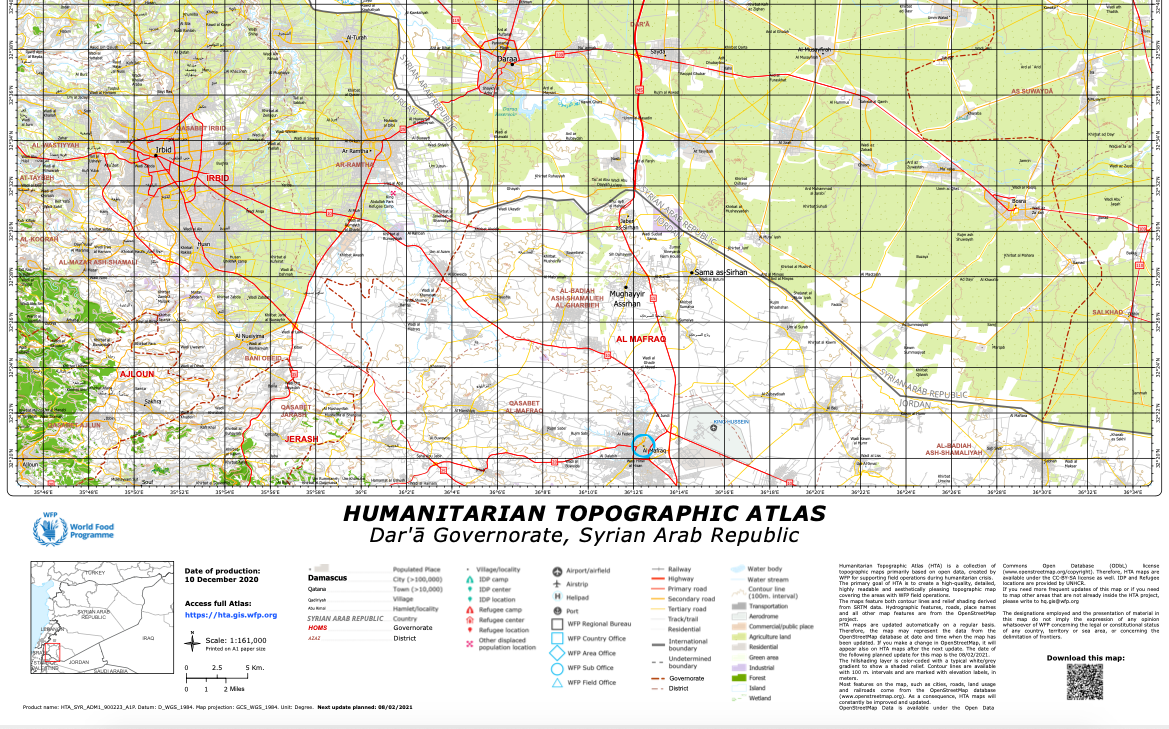 A portion of the Syrian map from HTA.