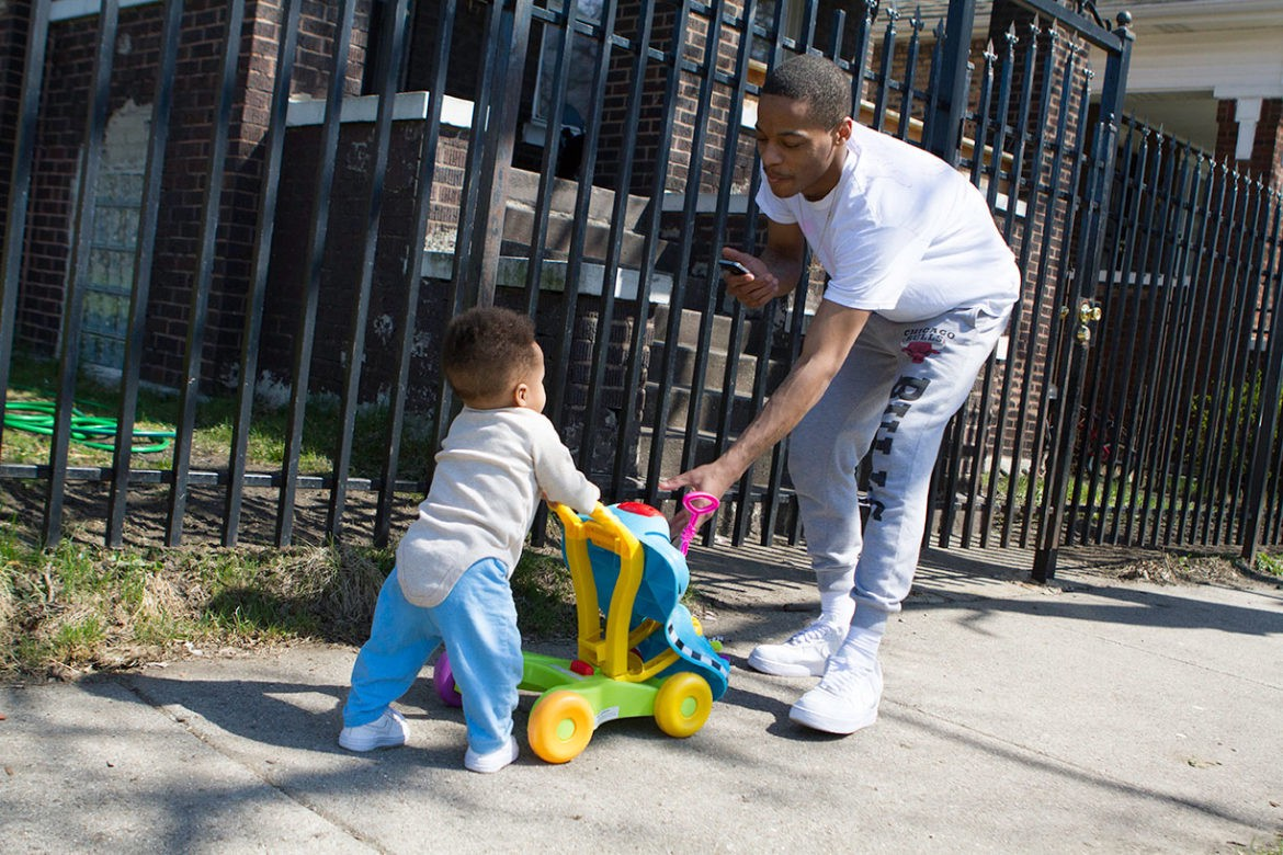 African American Black fathers are involved during Father's Day