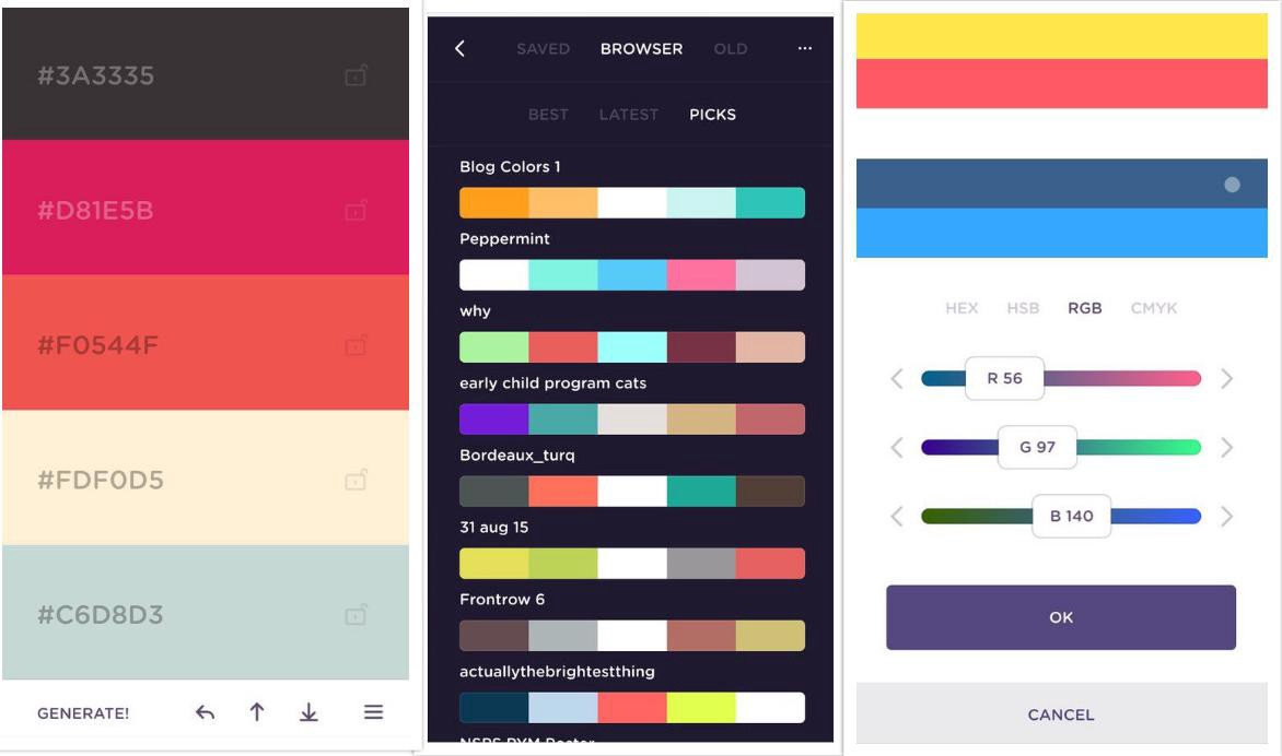 1 coolors app color scheme generator