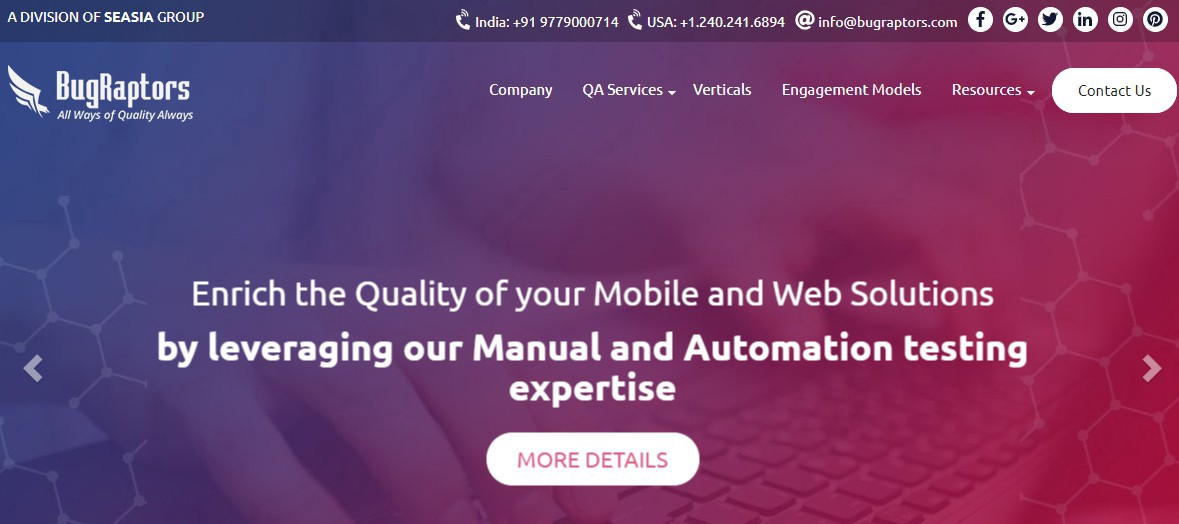 Bugraptors—Software Testing and QA Services Provider Company