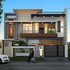 Modern Front Elevation Modern Front Elevation Is The Front By Bharat Kishore Modern House Elevations Latest House Designs Latest Home Designs Medium