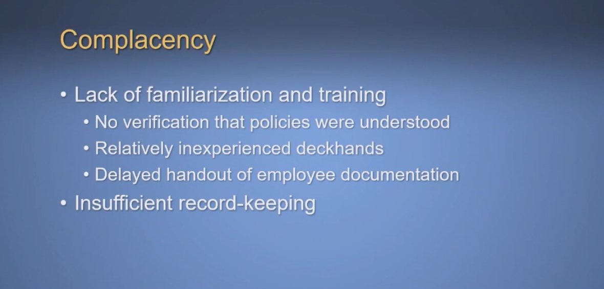 Duties expected to be performed during emergencies aboard a maritime vessel