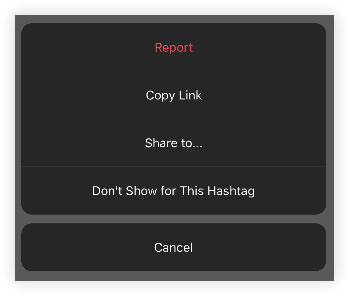 reporting your hashtag to Instagram