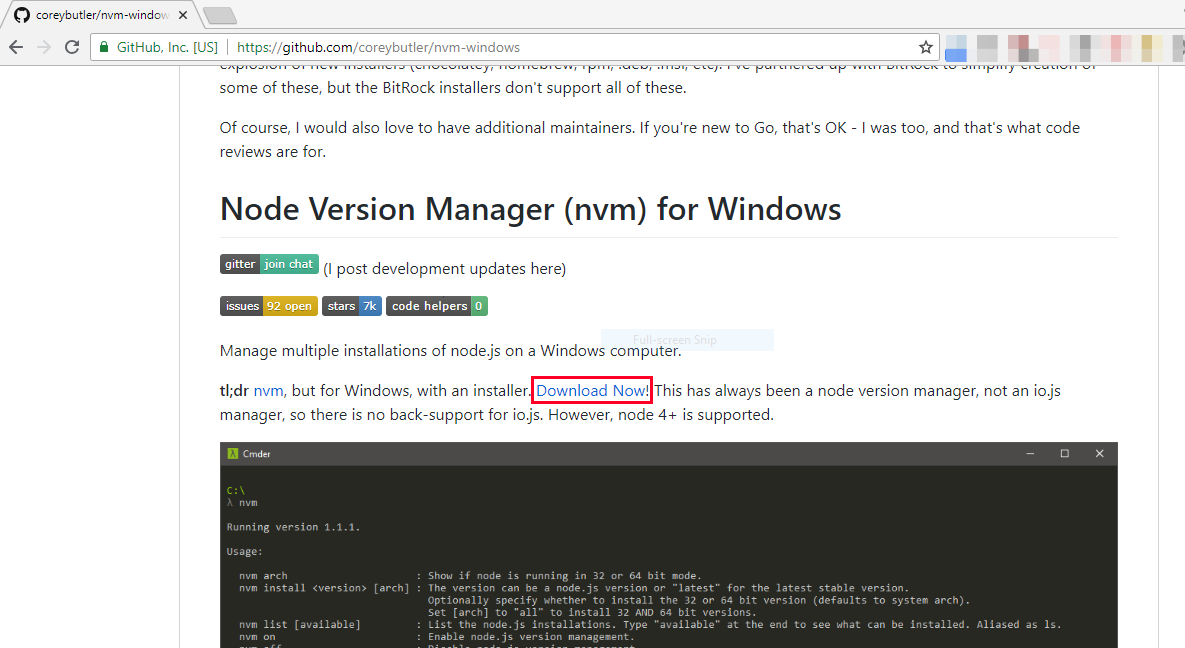 Maintain multiple versions of node js in Windows Operating