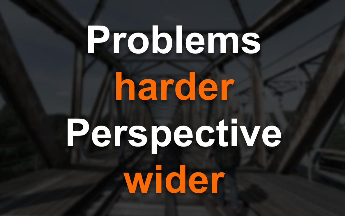 Problems harder—perspective wider