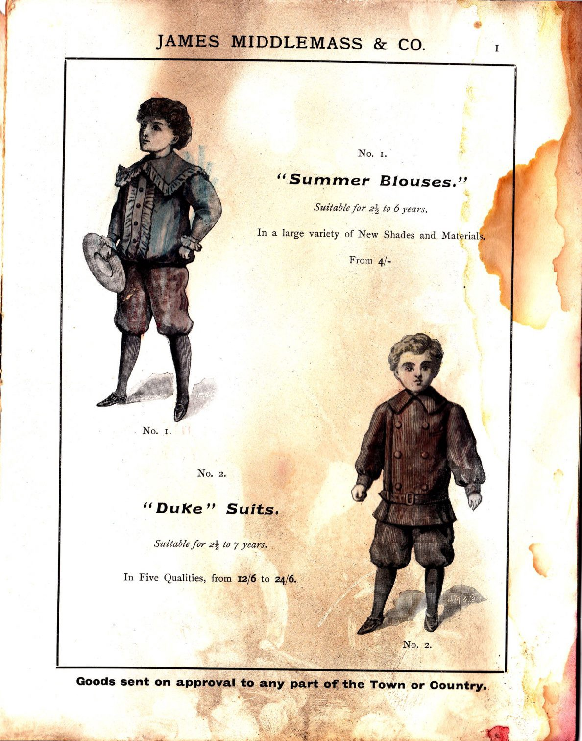 """""""Summer Blouses"""" and """"Duke"""" Suits"""