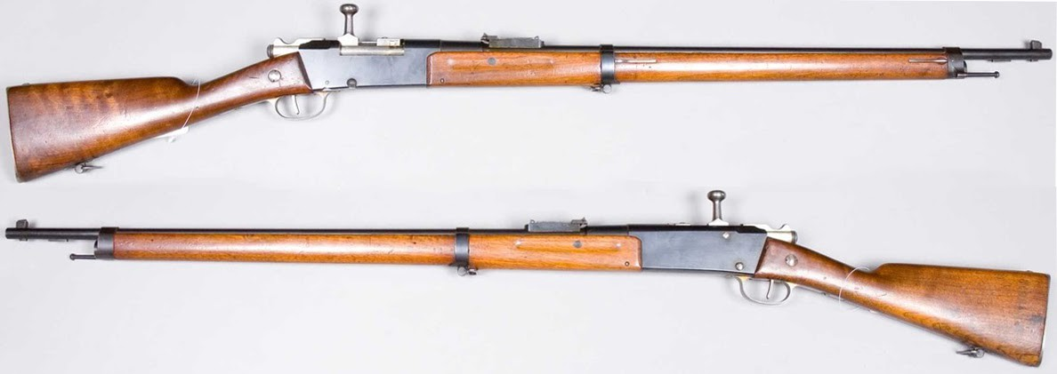 French Lebel Model 1886 rifles. The 369th Infantry Regiment of Harlem was issued these rifles by the French Army.