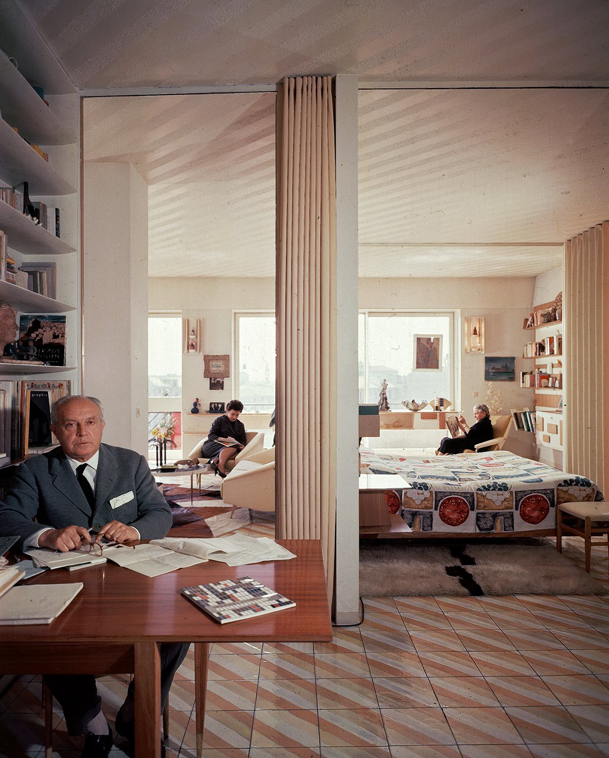 "Gio Ponti was an Italian advocate of industrial design and introduced interior furnishing ranges that we labeled ""sophisticat"